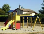 Aire de jeux enfant avec Toboggan à 2 tours - Dimensions : de 3 ,00 x 3 ,00 x 2,85 m à 5,40 x 6,40 x 2,85 m