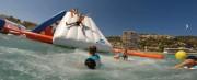 Aire de jeux gonflable aquatique 30 personnes - Dimensions : L 20 m x l 17 m