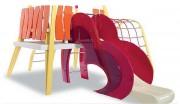 Aire de jeux modulaire - Combinaison de plusieurs éléments : toboggan, filet, cabane, ...