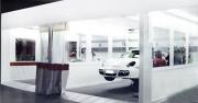 Aire de préparation carrosserie automobile - Évite la dispersion des poussières