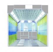 Aire de préparation carrosserie peinture a basse pression - Avec canaux d'air