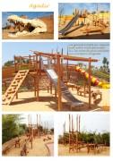 Aires de jeux sur mesure - Conception et fabrication -  En bois de robinier et acier inoxydable