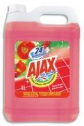 AJAX Bidon de 5 litres nettoyant parfum fleurs rouge - Ajax