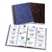 Album format A4 noir pour 400 cartes de visite Elégance - Elba