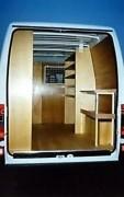Aménagement en bois pour Volkswagen Caddy - Kit de protection intérieur entièrement réalisé en contreplaqué Peuplier