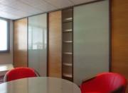 Aménagement façade coulissante de rangement - Façade coulissante verre/bois Rexwall