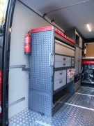 Aménagements et étagères pour fourgonnette Ford Transit - Kits d'aménagement préfabriqués et personnalisables