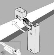 Amortisseur de porte R 1400 - Pour montage au dos de la porte