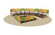 Amphithéâtre pour enfants - Dimensions maximales : 600 x 600 x 162 cm