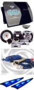 Ampli 4 canaux 1000W Lanzar et Kit éclaté 16cm Lanzar - Réf: PACKMXA412-2