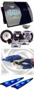 Ampli 4 canaux 1000W Lanzar et Kit éclaté 16cm Rockford - Réf: PACKMXA412-3