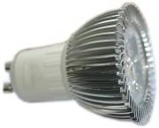 Ampoule Gu10 24 volts 3 watts - Angle : 15°,45°, 60° degrés aux choix