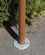 Ancrage de mât - Fixation permettant la pose et dépose de mat