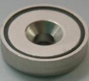 Anneau à fixer permanent - Diamètre - (D) : 16 mm - Revêtement : Nickelé