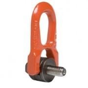 Anneau acier à double articulation - Charge : de 0,3 à 6,3 To - Coef. sécurité 5 - Acier classe >8