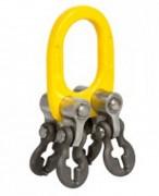 Anneau de tête pour élingues chaînes 4 brins réglables - 4 manilles de réglage - 4 chapes orientables