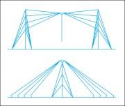 Antenne dipôle éventail - Puissance admissible : Jusqu'à 1 kW