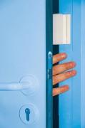 Anti claque porte à repositionnement automatique pour hôpital - Adhésif et articulé -  Breveté - Sécurité permanente - Fabrication francaise