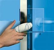 Anti pince doigts pvc - Design discret et esthétique - Couleur blanc aspect laqué