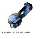 Appareil de cerclage avec batterie - Sertissage : soudure par friction