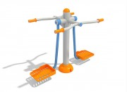 Appareil de fitness balancier - Dimensions : 1,2 m x 0,8 m – Disponible en version triple