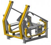 Appareil de fitness outdoor renforcement muscles cuisse et fessier -  Dimensions : 1645 x 1340 x 1650 mm