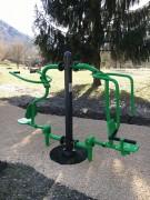 Ascenseur push et pull - Appareil de fitness de plein air type musculation accessible PMR