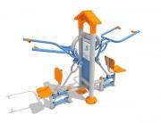 Appareil de fitness plein air élévateur - Dimensions : 2,1 m x 0,7 m - Poids : 180 kg