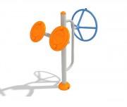 Appareil fitness taï Chi - Dimensions : 0,9 m x 0,8 m - Poids : 35 kg