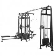 Appareil musculation 5 stations à charge - Poids de la machine : 432,5 kg
