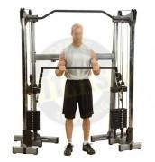 Appareil presse à épaules - Dimensions de l'appareil : L 107 cm x I 3.8 cm x H 3.8 cm