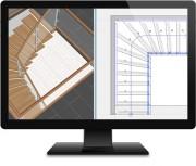 Application bureautique conception escaliers - Conception et vente avec vue 3D