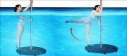 Aqua jumping barre - Hauteur : 2.75 m - Diamètre socle : 1.20 m