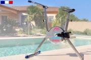 Aquabike à pédales réglables - Dimensions (L x l x h) : 60 x 140 x 40 (colis)