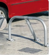 Arceau de parking antivandalisme - Hauteur hors sol (mm) : 455
