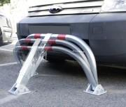 Arceau de parking avec amortisseurs - STOPCHOC - Dimensions (L x l x H) : 960 x 595 x 455 mm
