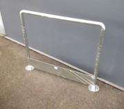 Arceau de sécurité avec plinthe galvanisé - Dim. hors tout : 1140 x 900 mm - ø tube 40 mm