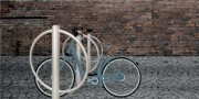 Arceau vélo inox double - Inox - Diamètre : Ø 104 mm