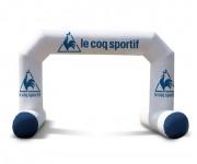 Arche à angle avec pieds stabilisateurs - Dimensions personnalisables - Matériaux : PVC de haute qualité