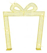 Arche cadeau dorée LED - Eclairage LED - Dimensions : 310 x 280 cm