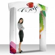 Arche publicitaire carton - Dimensions (cm) : Hauteur x larguer  230 x 180