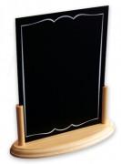 Ardoise à menu avec socle - Dimensions (cm) : 20 x 9 x 22,5
