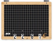 Ardoise à tarifs - Dimensions (cm) : 20 x 15