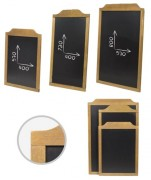 Ardoise de menu murale - Dimensions :470 x 645 / 470 x 840 / 600 x 910 mm