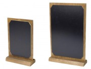 Ardoise de table - Fabriqué en bois HDF  - Formats A4 ou A5