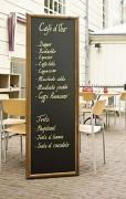 Ardoise longue porte menu restaurant - A poser horizontalement ou verticalement