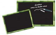 Ardoise menu avec cadre vert - Disponible en 2 dimensions