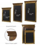 Ardoise menu en bois - Dimensions :  490 x 680 / 490 x 870 / 630 x 960 mm
