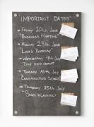 Ardoise menu en imitation béton sur bois - Surface d'écriture en imitation béton sur bois dur  - Coloris : Gris -
