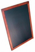 Ardoise menu mural - Dimension : A4 en bois vernis